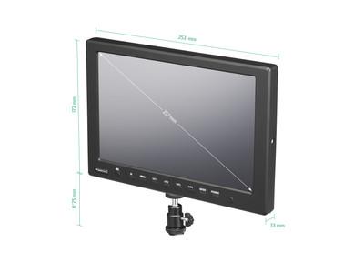 10 Zoll Field Monitor seitliche Ansicht