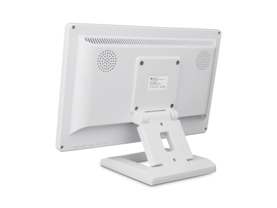 13 Zoll Monitor (Weiß) - Rückseite mit Standfuß
