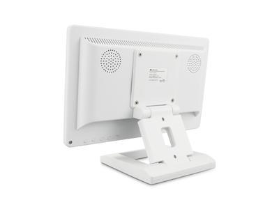 12 Zoll Monitor (Weiß) - Rückseite mit Standfuß