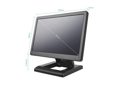 10 Zoll Monitor schräge Ansicht
